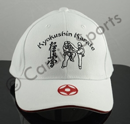 Kyokushin karate cap pet wit en zwart
